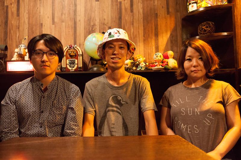 左から「YUTAさん」「SATOさん」「HIROさん」