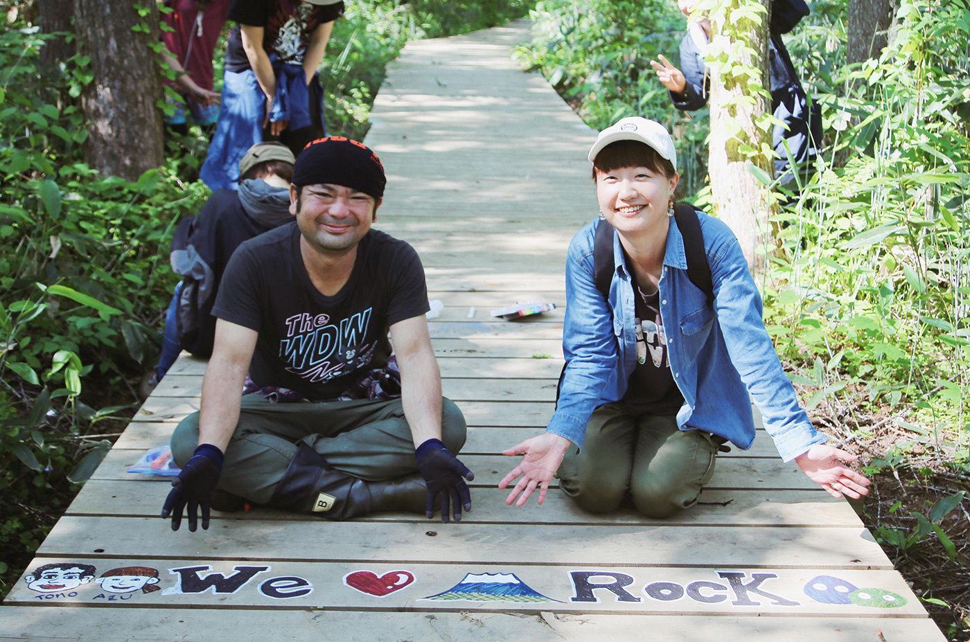 幸せそうな笑顔で撮影に応じてくれたお二人 Photo by Riho Kamimura
