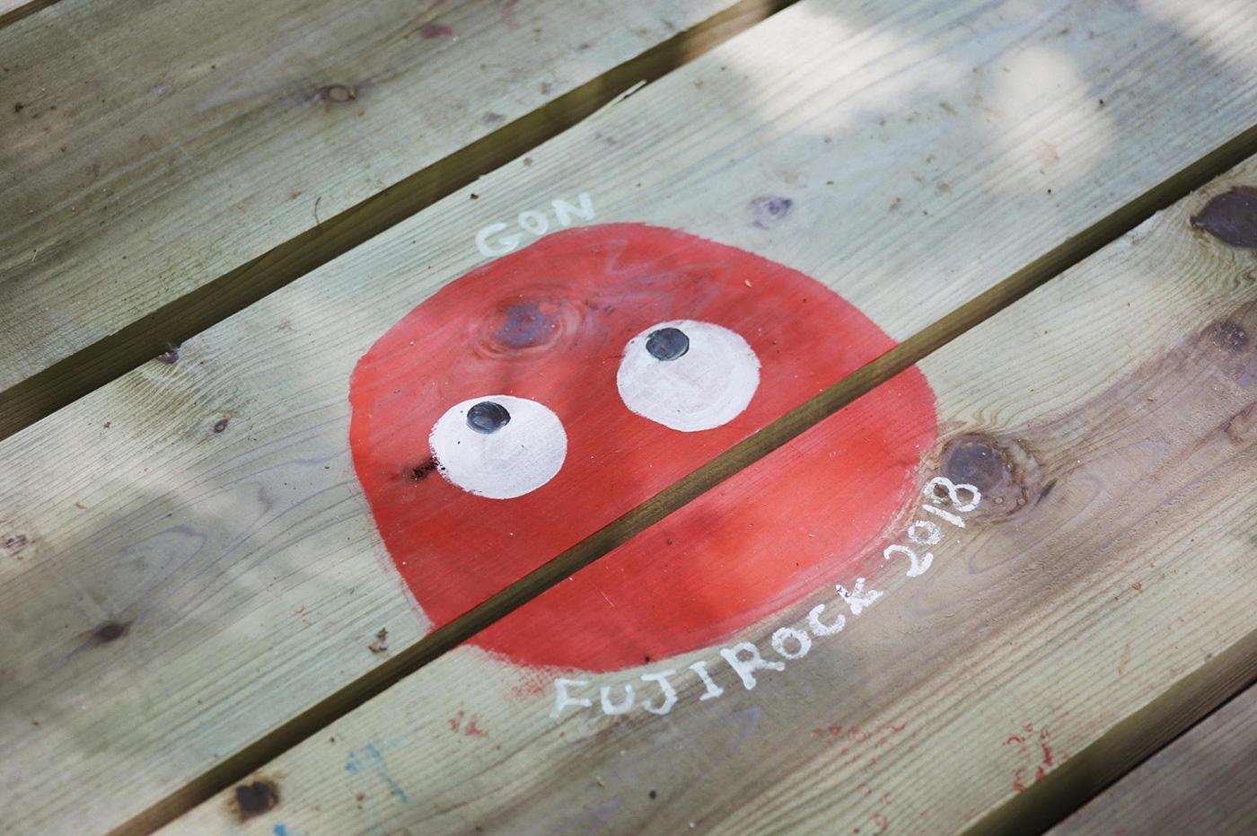 ゴンちゃんが描かれているボードも Photo by Riho Kamimura