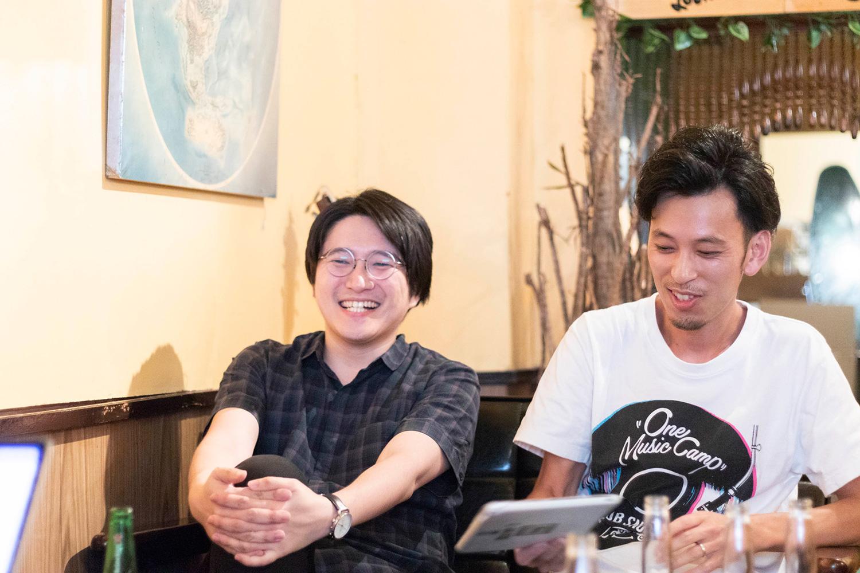 野村さん、佐藤さん/ONE MUSIC CAMP