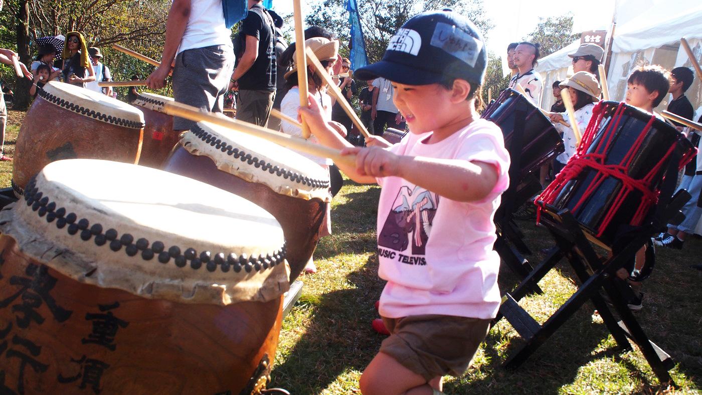 初めての和太鼓を体験
