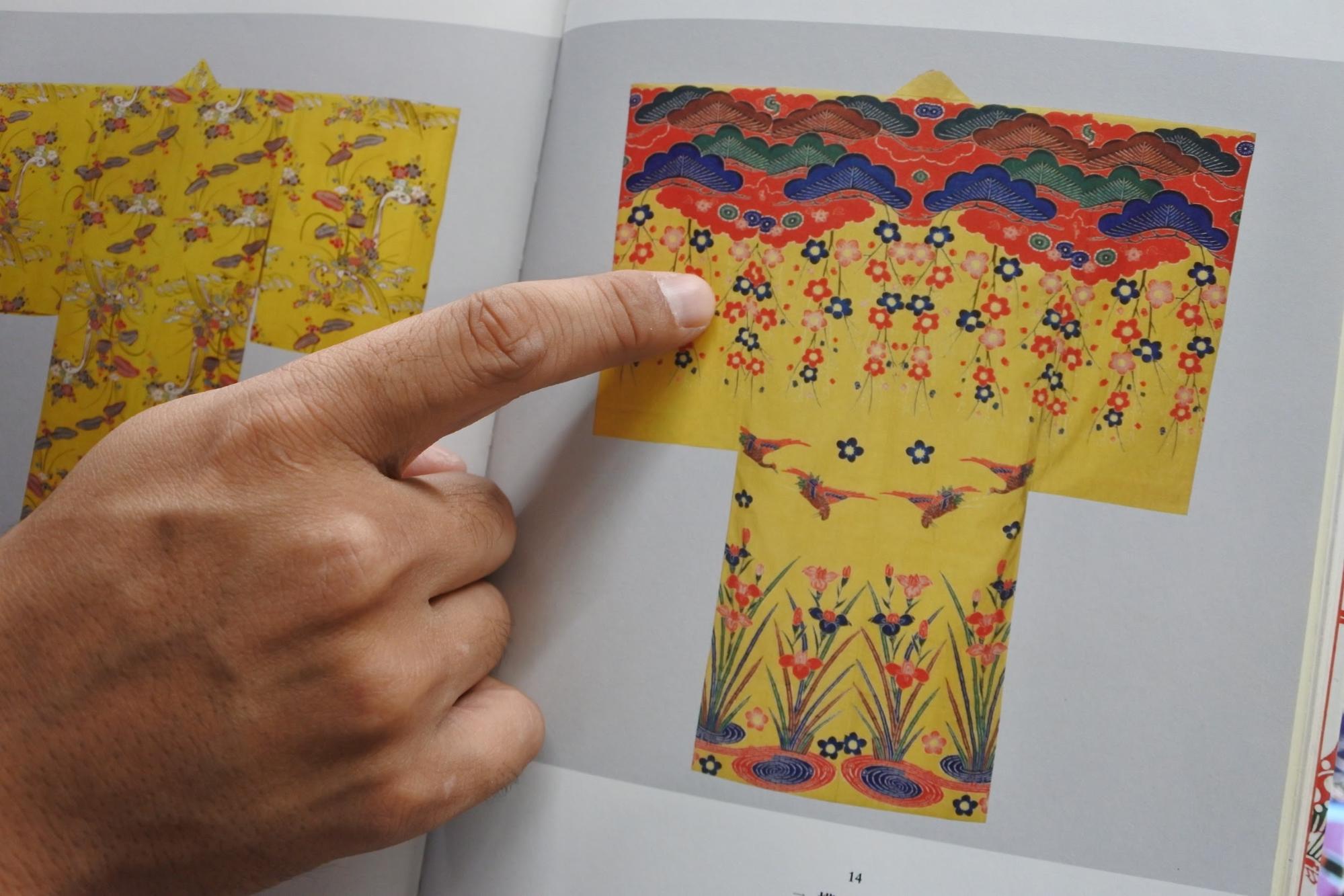 伝統的な柄(古典柄)の着物|Photo by Masaya Morita