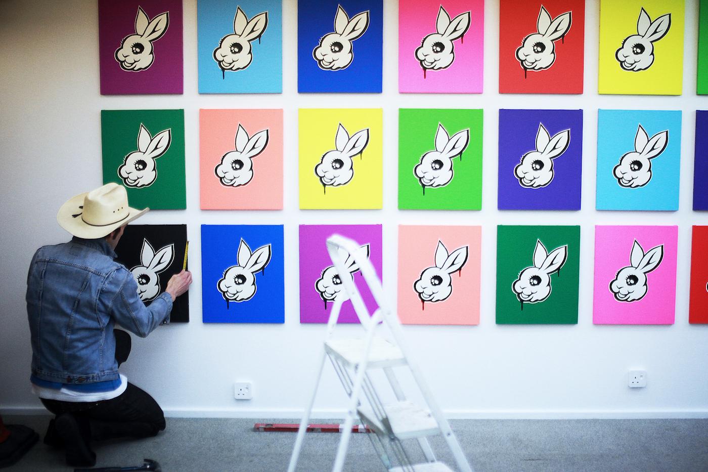 Gordon(ゴンちゃん)が経営するロンドンのギャラリー「SUBWAY Gallery」で行われたMADBUNNYの個展