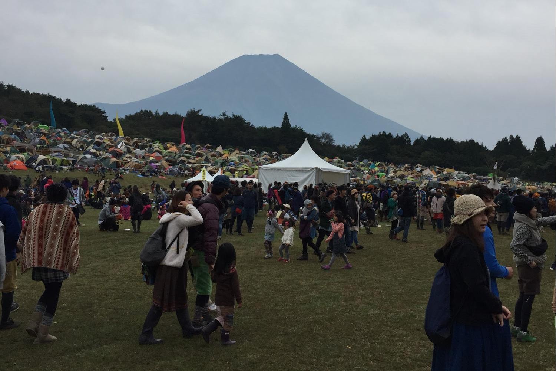 レインボーステージから見える富士山|Photo by Masaya Morita