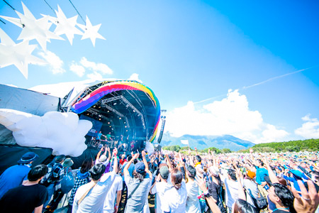 晴れた日のRainbow stage | Photo by Sayaka Yuki