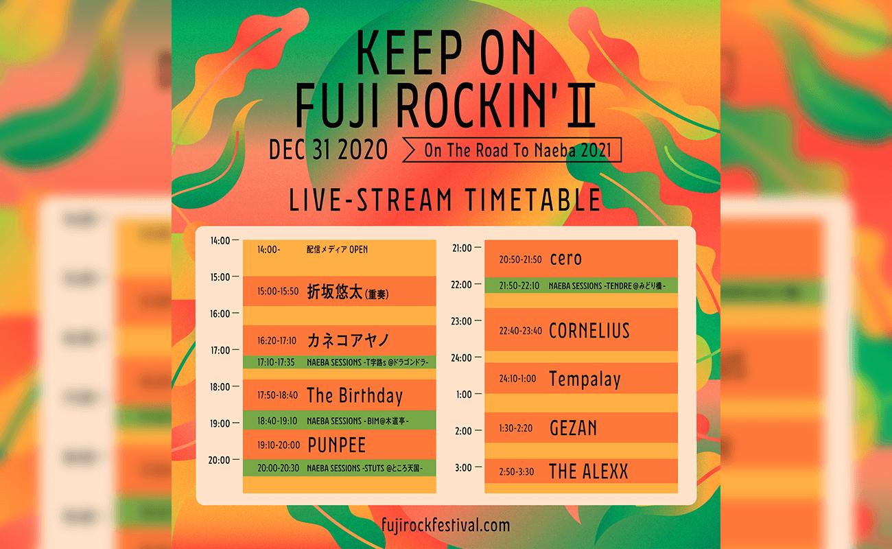 KEEP ON FUJI ROCKIN' II 〜On The Road To Naeba〜 ライブフォト&レポート完全版 アーカイブ視聴チケット 販売は1月5日(火)9:00まで!